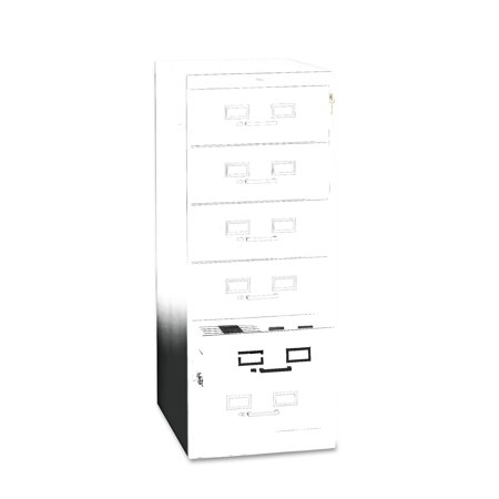 Tennsco Six Drawer Multimedia Cabinet Cards Black Product Photo