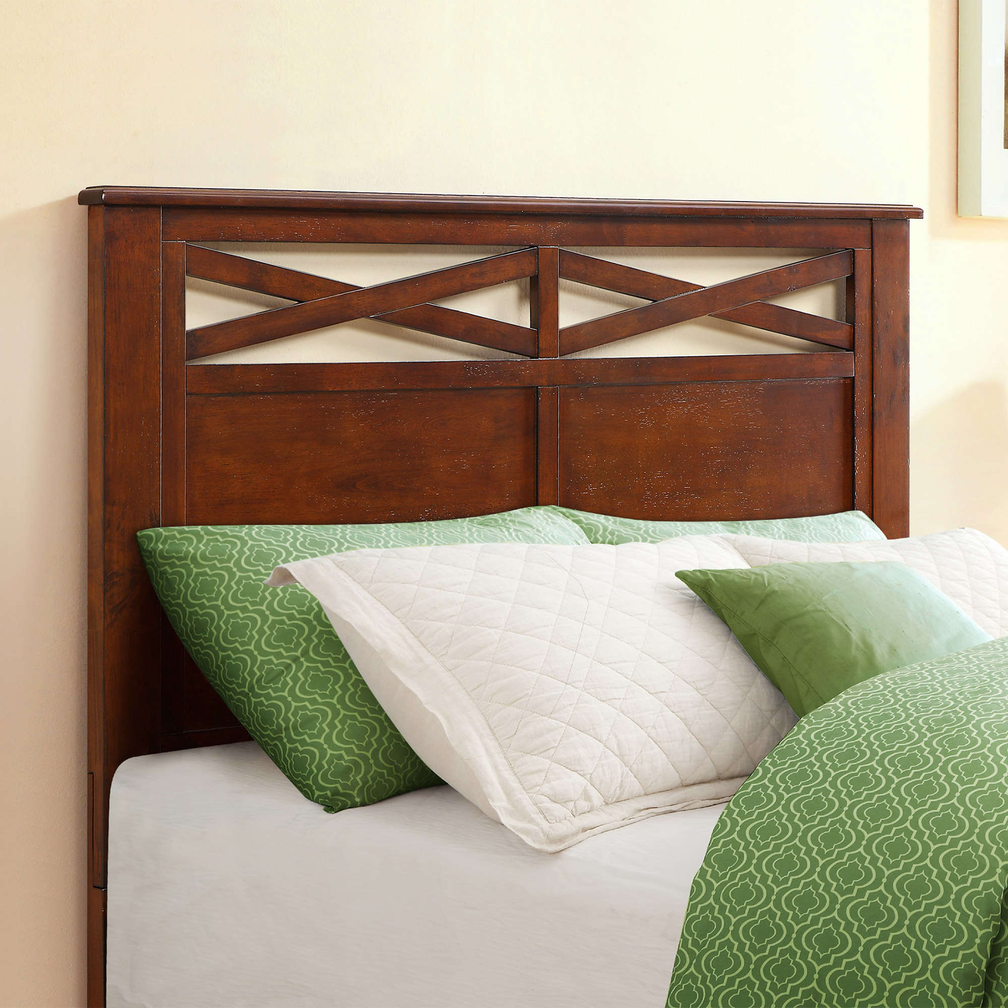 Better Homes & Gardens Maddox Crossing Queen/Full Headboard, Warm Brown Finish