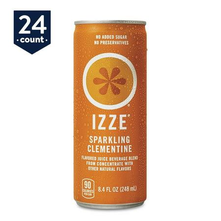 IZZE Sparkling Juice, Clementine, 8.4 oz Cans, 24 Count