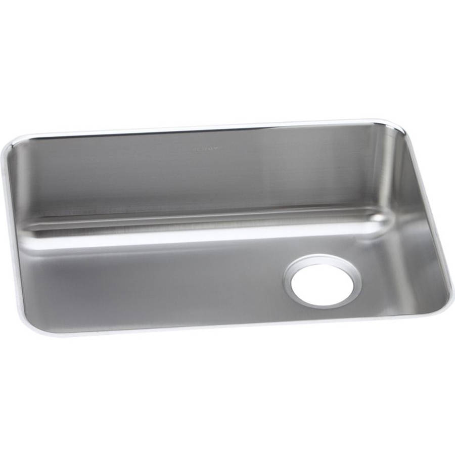 Elkay ELUH231710R Gourmet Lustertone Stainless Steel Single Bowl Undermount Sink