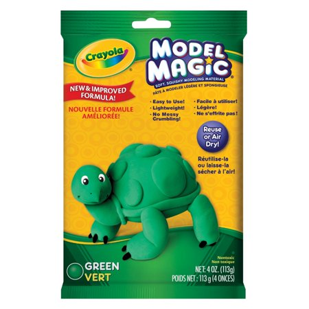 Green Crayola Crayon (Crayola Dough Crayons Model Magic - Green, 4)