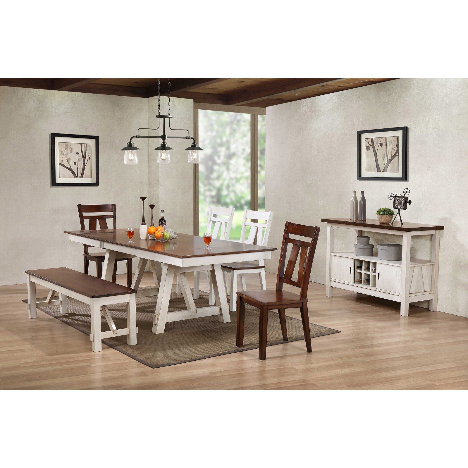 Bernards Winslow Casual Dining Table - Walmart.com - Walmart.com
