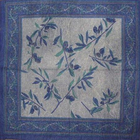 Border Vine Stonewash Cotton Table Napkin 18