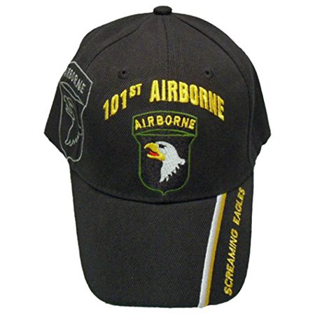 Buy Caps and Hats 101st Airborne Screaming Eagles Baseball Cap Mens One Size Black Black Screamin Eagle