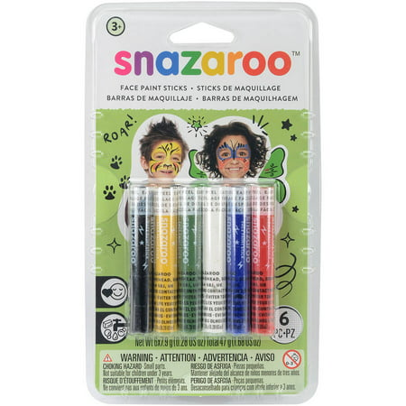 Snazaroo Face Painting Sticks 6/pkg Rainbow - Womens Halloween Face Painting Designs