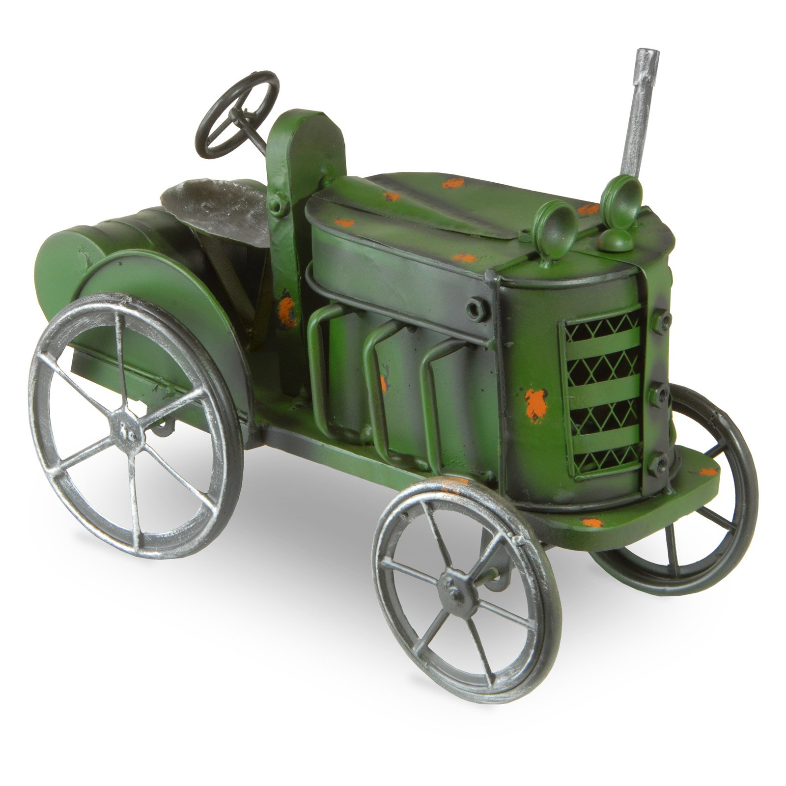 "14"" Metal Tractor Lawn Ornament"