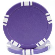 5 Spot Blank 50 Poker Chips, 11.5gm, Purple By Trademark Poker Ship from US by