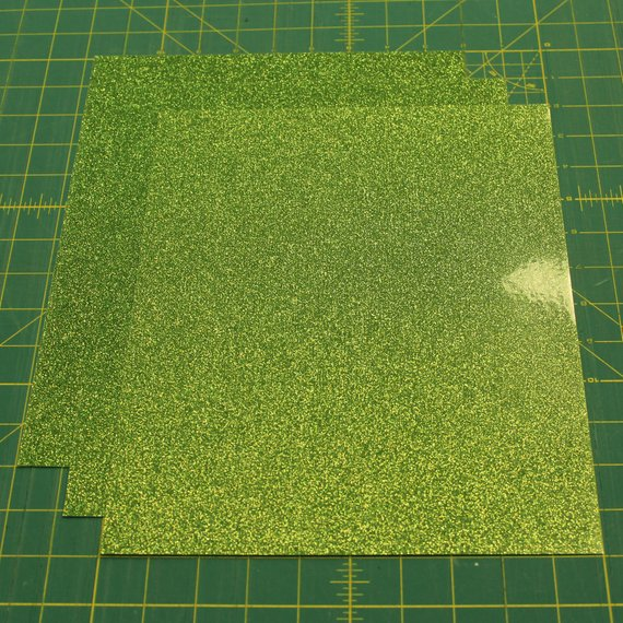 "Light Green Siser Glitter Three (3) 10""x12"" Sheets of Iron-on Heat Transfer Vinyl Sheets"