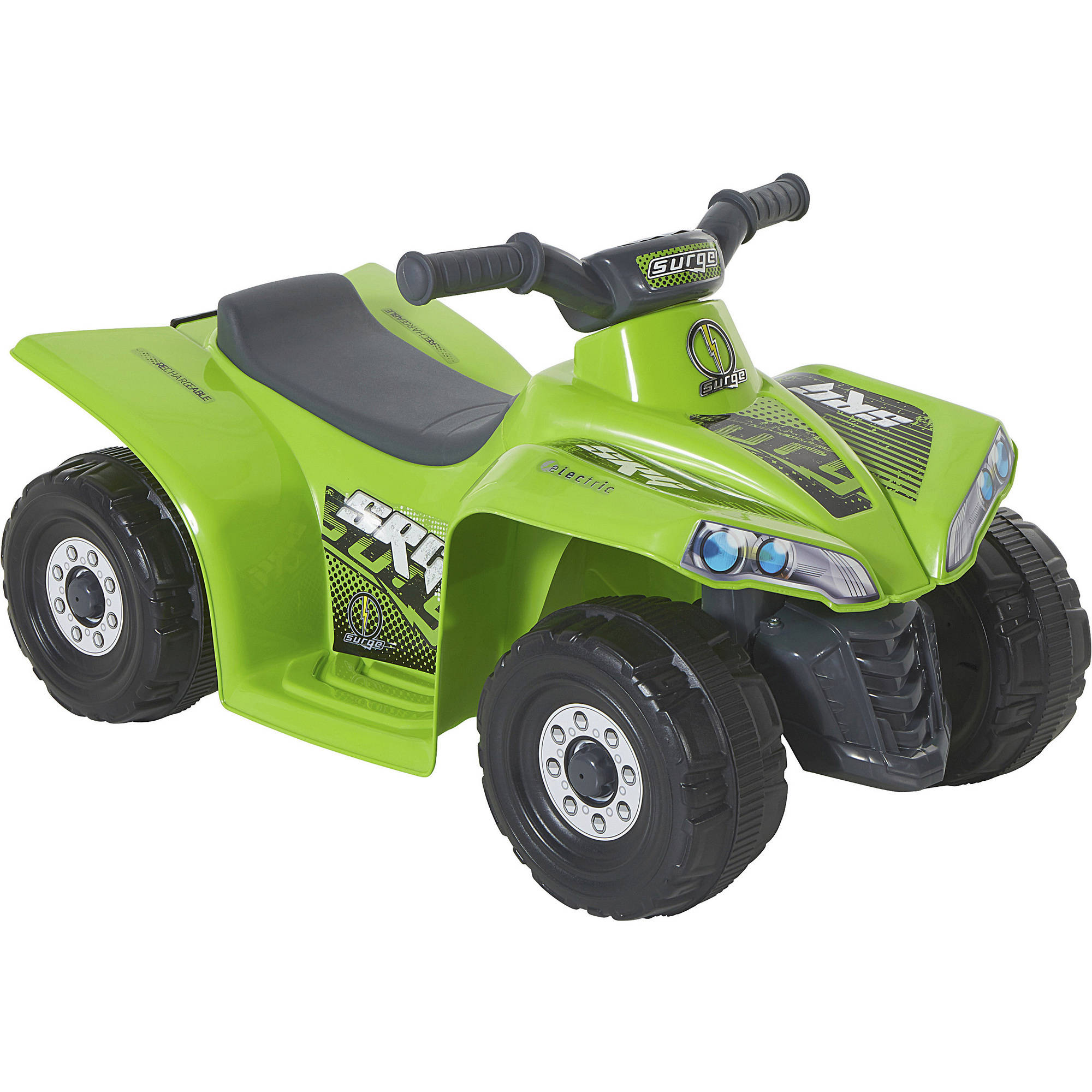 1021a2eae Kids Ride On Quad ATV Toddler Vehicle 6V Battery Powered Surge Graphics  Green
