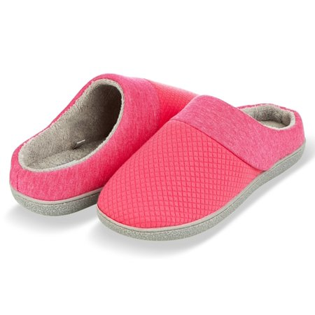 b5c9e7c95 Floopi Slippers for Women's Memory Foam Deluxe Clog Scuff/Mule House Slip- Ons for Indoor & Outdoor Use| Warm & Fuzzy w/Quilted Jacquard Terry Lining,  ...