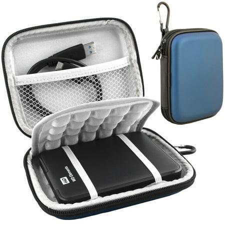 Lacdo EVA Shockproof Carrying Case for Western Digital My Passport Studio Ultra Slim Essential WD Elements SE Portable 500GB 1TB 2TB Mac USB 3.0 Portabl 2.5 inch External Hard Drive Travel Bag, (Wd My Passport Essential Se 1tb Not Recognized)