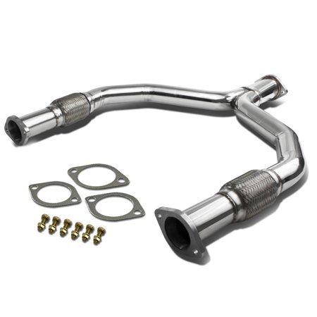 For 2009 to 2014 Nissan 370Z / Infiniti G37 Stainless Steel Y -Pipe Downpipe Exhaust - Fairlady Z34 V36 VQ37VHR 10 11 12 13 -  DNA Motoring, YP-370Z-G37