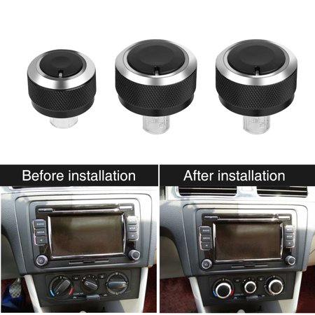 HURRISE 3pcs Aluminum Car Air-Condition Control Panel Switch Knob for VW GOLF 5 MK5 2005-2009, Air-Condition Panel Switch, Air-Condition Switch for VW - image 2 of 7