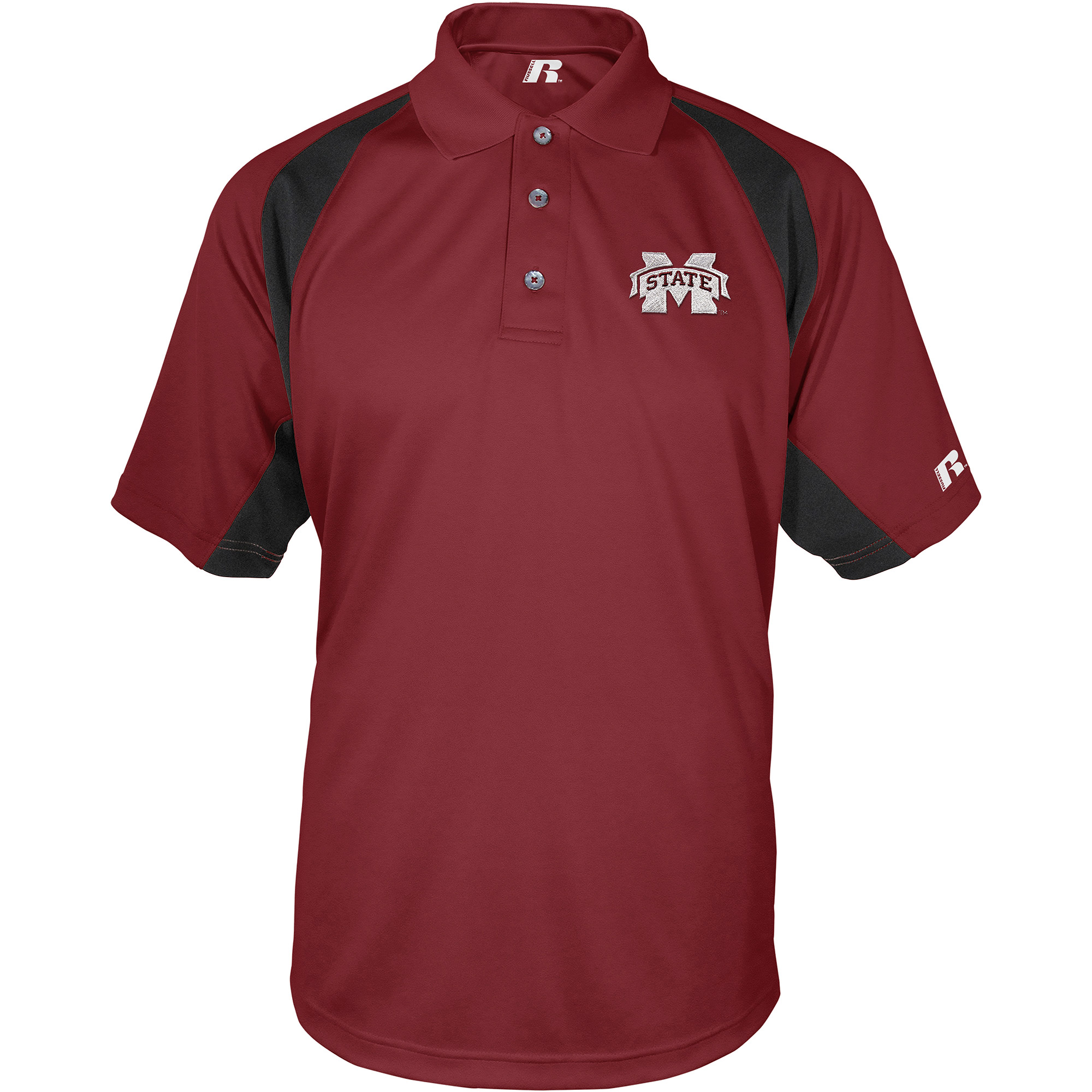 Russell NCAA Mississippi State Bulldogs, Men's Synthetic Polo