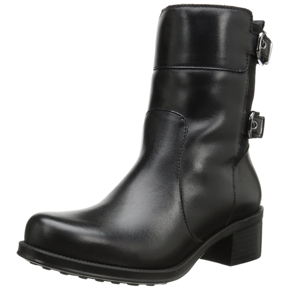 Andre Assous Women's Laura-A Black Waterproof Leather Boots 37.5 EU/7.5M US