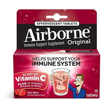 5 Pack - Airborne Effervescent Health Formula Tablets, Very Berry, 10 (Airborne Effervescent Health Formula Tablets)