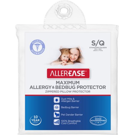 AllerEase Maximum Bed Bug Protection Pillow Cover Walmart Enchanting Dust Mite Pillow Covers Walmart
