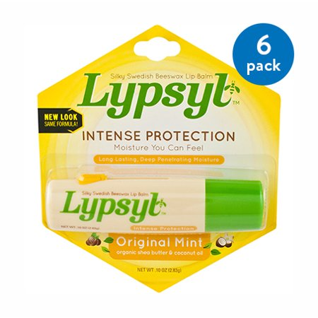 (6 Pack) Lypsyl Intense Protection Lip Balm Original Mint .10 -