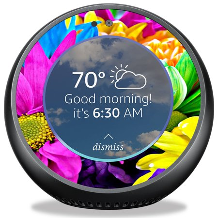 Skin For Amazon Echo Spot   Colorful Flowers  Mightyskins Protective  Durable  And Unique Vinyl Decal Wrap Cover   Easy To Apply  Remove  And Change Styles   Made In The Usa