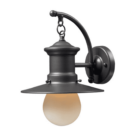 Wall Sconces 1 Light With Graphite Finish Medium Base Bulb Type 12 inch 60 Watts - World of Lamp