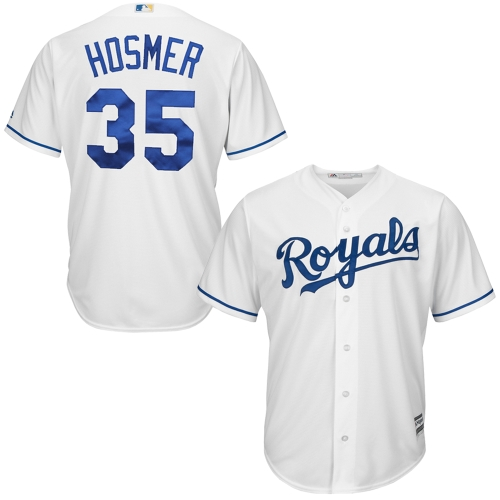 Men's Majestic Eric Hosmer White Kansas City Royals Cool Base Player Jersey by