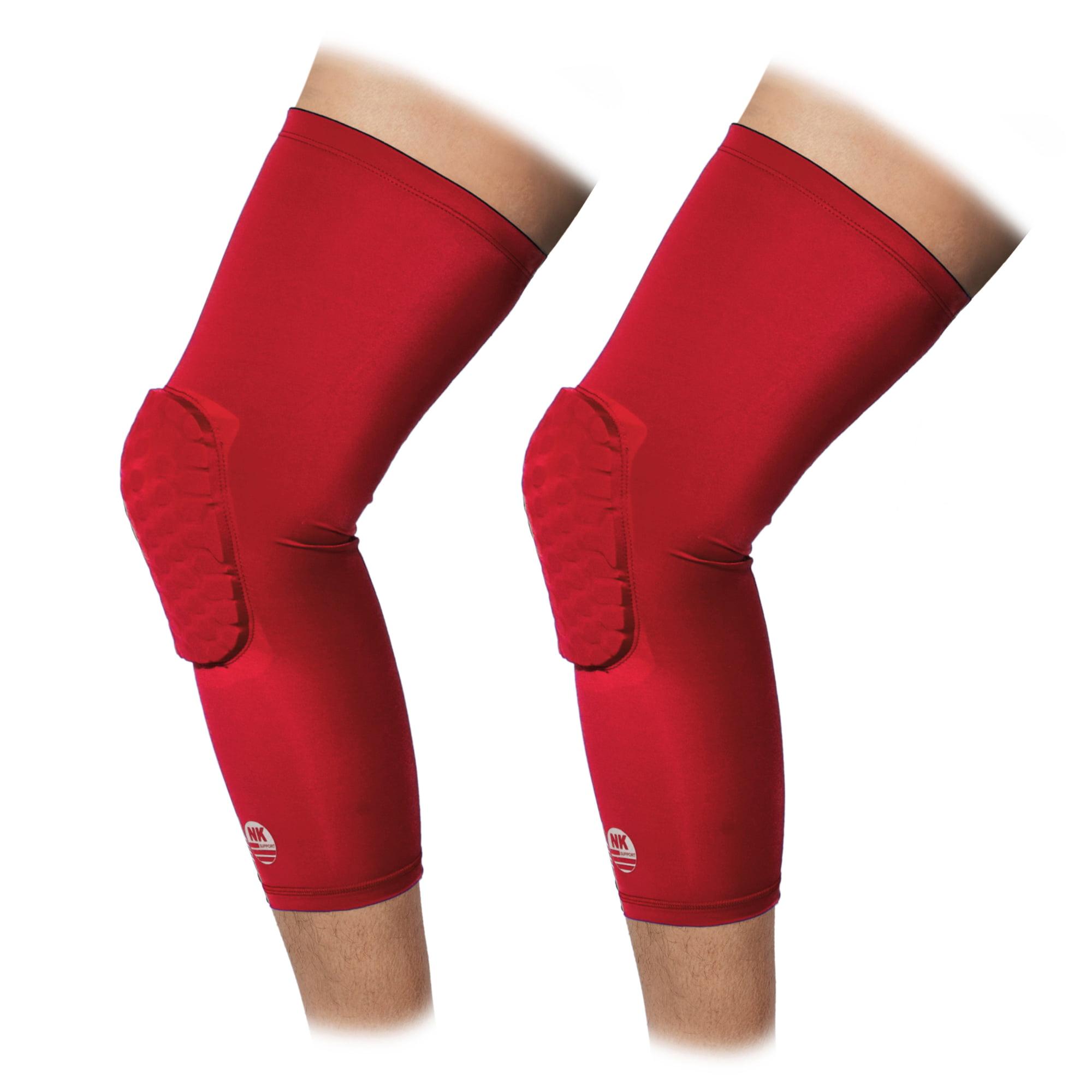 Nk Support Knee Pads Basketball Volleyball Protective Kneepads Honeycomb Crashproof Leg Sleeves Pair Red Walmart Com Walmart Com