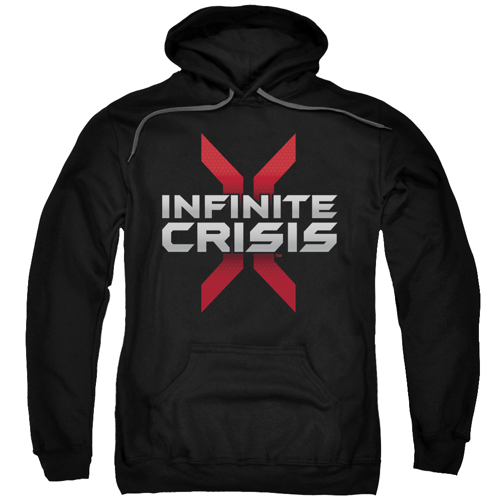 Infinite Crisis/Logo Adult Pull Over Hoodie Black  Incr101