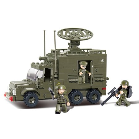 US Army Radar Vehicle Military Building Blocks Educational Bricks Toy for $<!---->