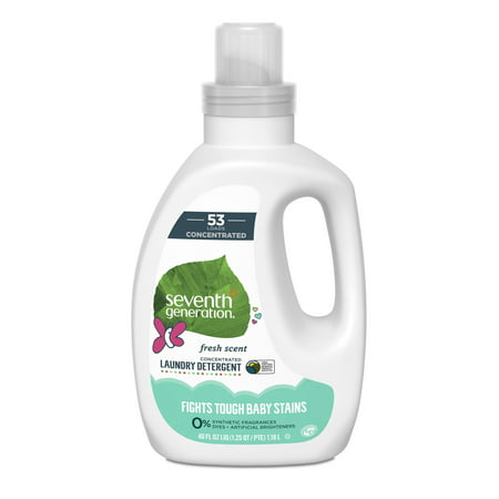 Seventh Generation Baby Concentrated Laundry Detergent, Fresh Citrus, 40 Oz, 53 Loads