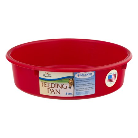 (2 Pack) Manna Pro Feeding Pan - 3 QTS., 1.0 CT