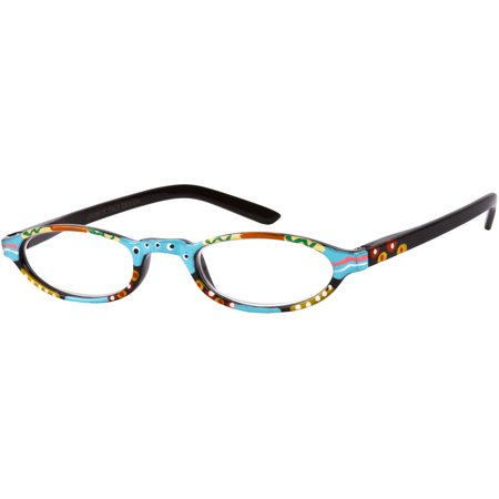 Oval Reader (Readers.com The Selena Hand Painted Oval  for Women Reading Glasses )