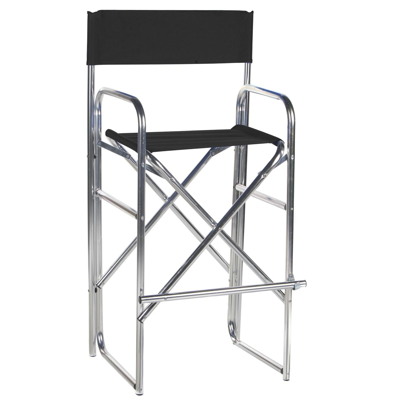 30.5 Inch Aluminum Frame Bar Height Directors Chair