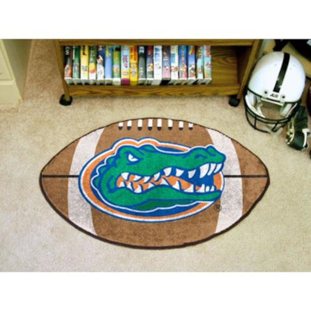 Florida Gators Football-Shaped Mats, For all those football fans out there: football-shaped area rugs by Fanmats By Fanmats
