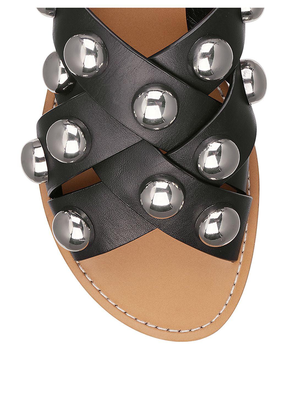 287de3befaae Marc Fisher LTD - Raidan Stud Leather Sandals - Walmart.com