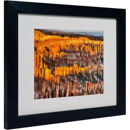 Trademark Fine Art u0022Bryce Canyon Sunriseu0022 Matted Framed Art by Pierre Leclerc