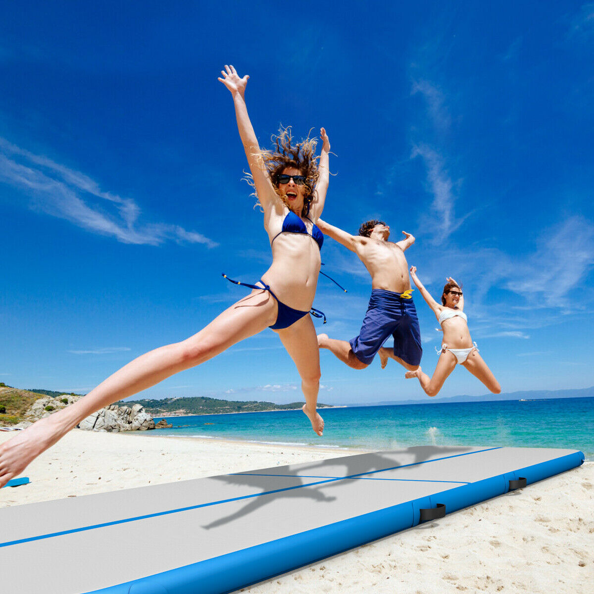13' Inflatable Exercise Air Track Floor Mat Water Buoyancy Pump Multi-purpose - image 4 of 10