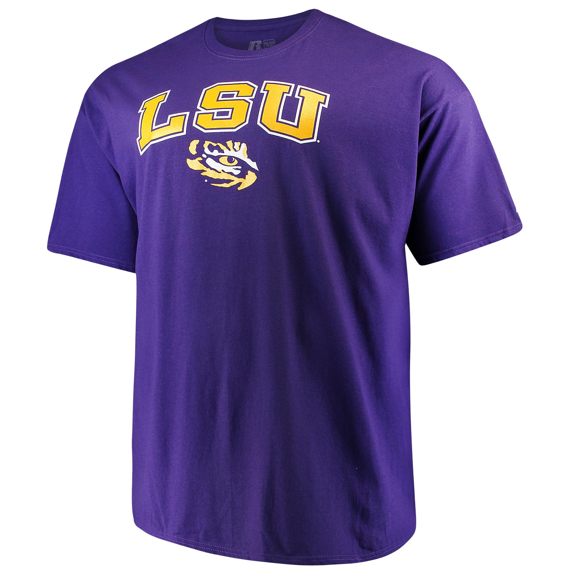 Men's Russell Purple LSU Tigers Big & Tall Classic Crew Neck T-Shirt