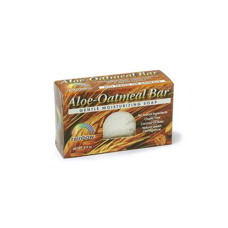 Aloe & Oatmeal Bar Soap Rainbow Research 4 oz Bar