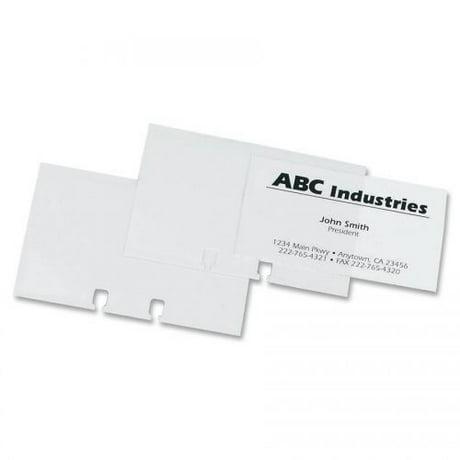 Rolodex business card sleeve refill colourmoves