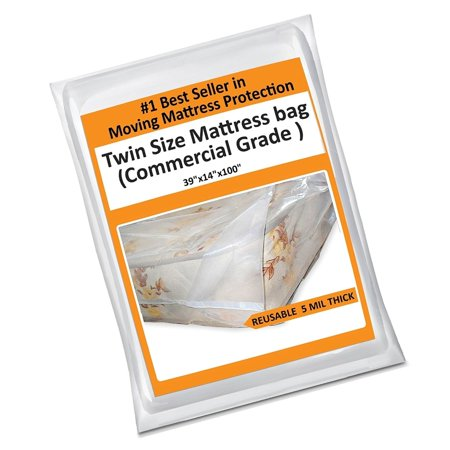 Twin Mattress Bag Cover For Moving Or Storage 5 Mil