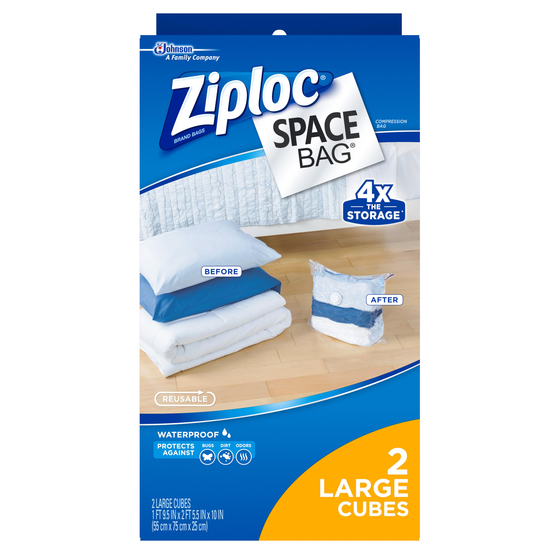 Ziploc Space Bag, Large Cube, 2 count