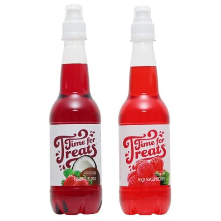 Victorio Time for Treats Snow Cone Syrup 2 Pack Bundle Tiger's Blood and Red