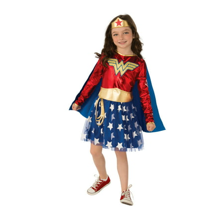 Rubies Deluxe Wonder Woman Girls Halloween Costume