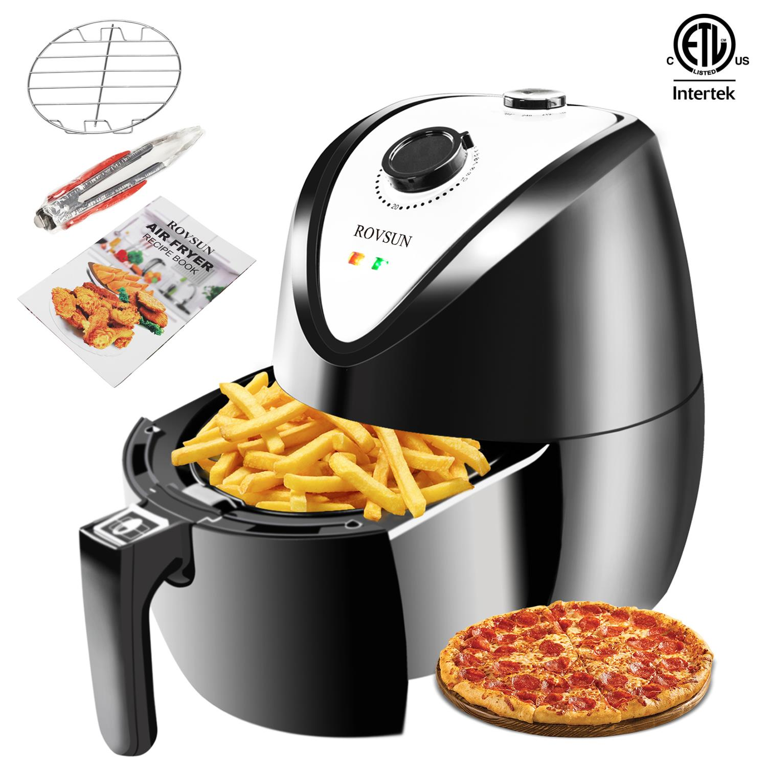 Ktaxon 1500W Electric Air Fryer Multifunction Timer & Temperature Control Healthy