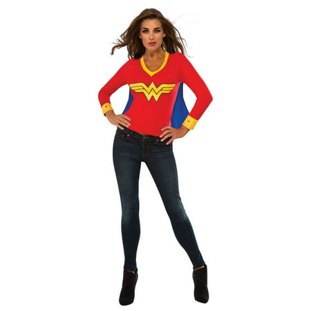 Womens Wonder Woman Sporty Tee Halloween Costume (Krispy Kreme Halloween Shirt For Sale)