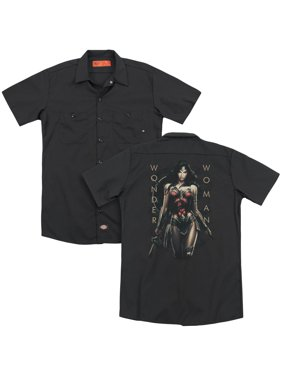 Wonder Woman Movie - Armed And Dangerous (Back Print) - Work Shirt - X-Large