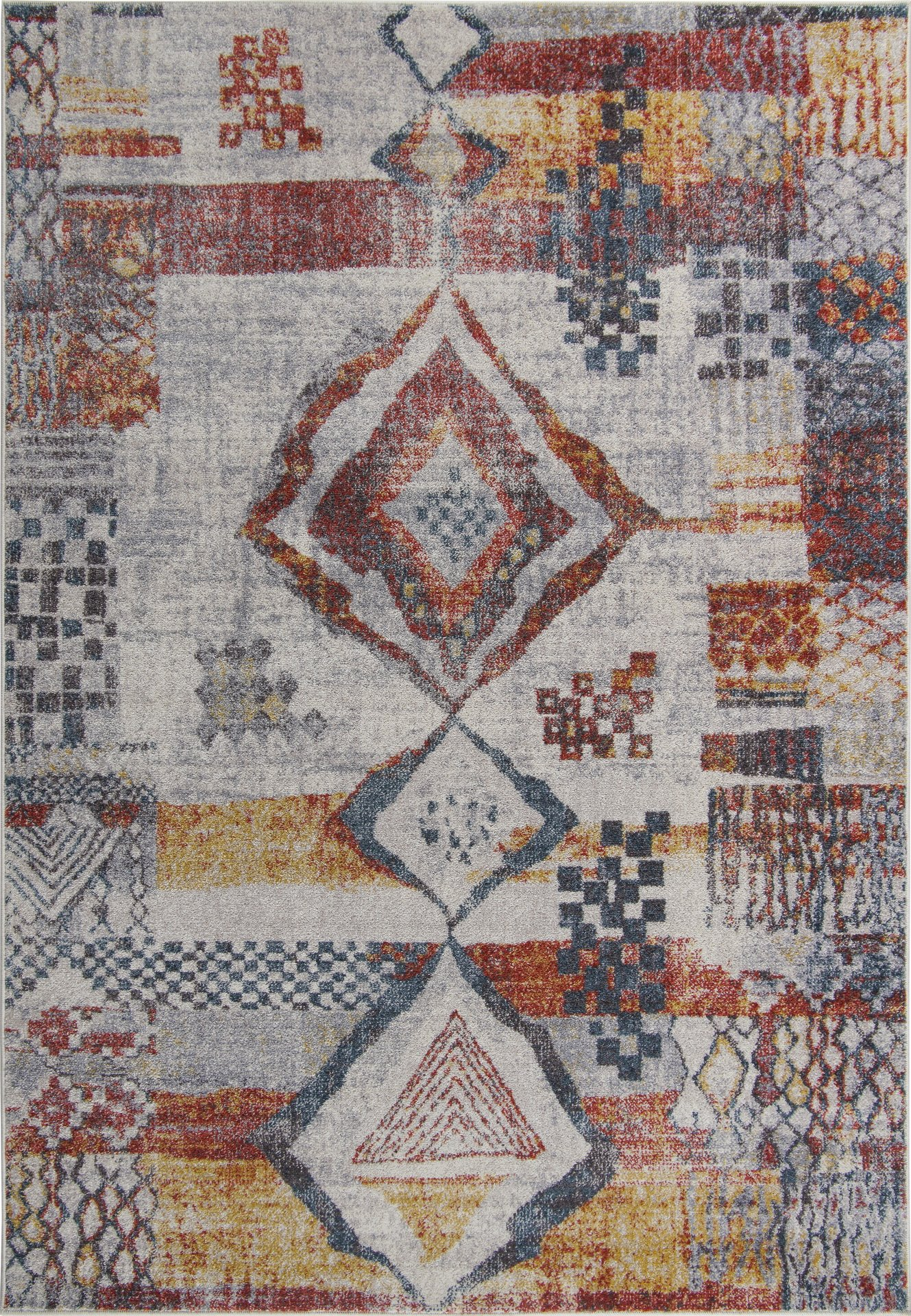 Image of: Morocco Southwestern Destressed Multicolor Area Rug 2×5 3×10 4×5 6×8 7×10 8×11 9×12 Feet Size Walmart Canada