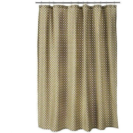 Threshold Yellow Circle Shower Curtain Gold Brown White