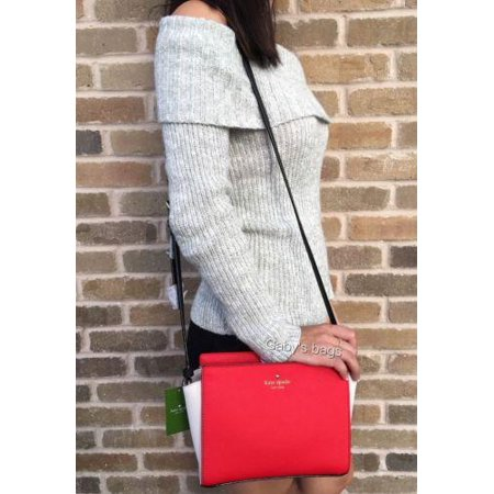 Nwt Kate Spade Cedar Street Hayden Small Crossbody Cherry Red Black White Bag
