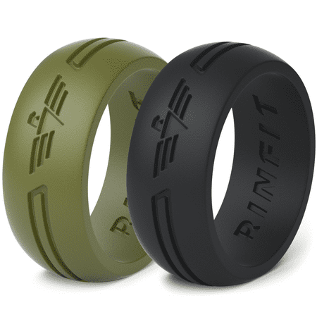 silicone rings wedding band for men 2 rings pack rinfit